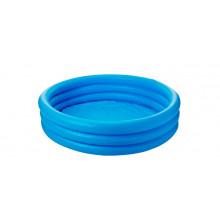 Бассейн детский круглый 114х25см 3 кольца маленький хрустальный (12) №59416