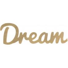 Напис дерев'яний Dream 0009