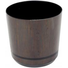 Горшок для цветов пластиковый d125мм-33, v-1,4 л темное дерево (10)