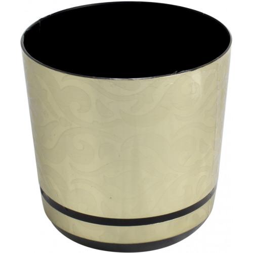 Горшок цветочный пластиковый d125мм-41, v-1,4 л золотой узор (10)
