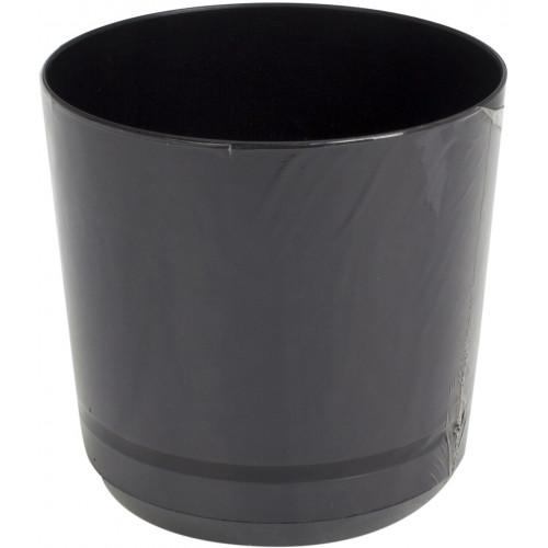 Горшок цветочный пластиковый d125мм-43, v-1,4 л черный (10)