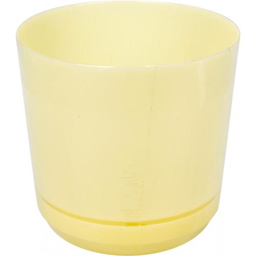 Горшок для цветов пластиковый d160мм-102, v-2,5 л бежевый (10)
