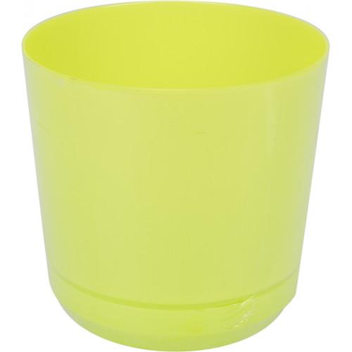 Горшок цветочный пластиковый d160мм-103, v-2,5 л сливки (10)