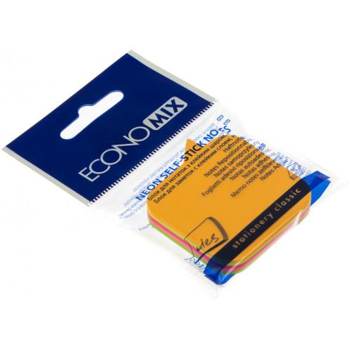Блок для нотаток з липким шаром 45х50мм Economix Діалог неоновий асорті 80 аркушів (12) Е20952