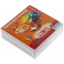 Блок для заметок клееный 85х85мм 300 листов Crystal радуга (32)