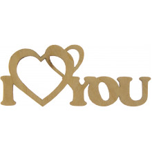 Заготовка фанера надпись I love you 3х8 см (5)