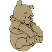 Ведмідь Вінні Пух 8х5 см фанера (5)