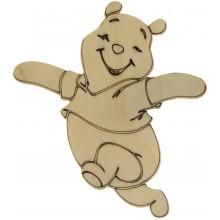 Медведь Веселый Винни Пух 10х8,5 см фанера