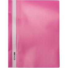 Папка-швидкозшивач Economix А4 без перфорації апельсин прозорий верх рожева (10) E31509-09