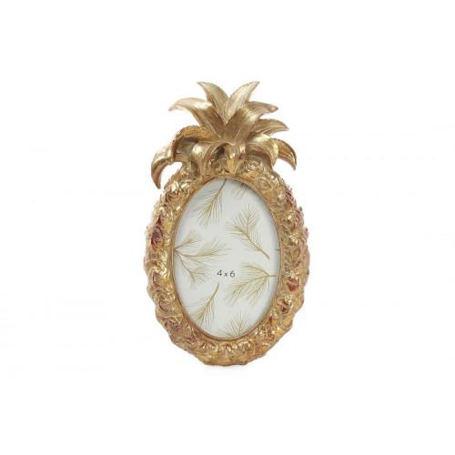 Фоторамка Ананас овальная,состаренное золото,25 см (18) №450-144 Bonadi