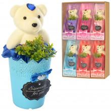 Аксесуари для свята: квіти, мишка 15 см, ароматизовані, в слюді (6) (96) MK3322