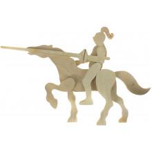 Лицар на коні дерево 0249