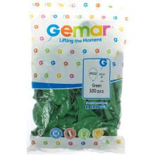 Шарик воздушный Gemar 21 см/8 зеленый (100) A80/80121