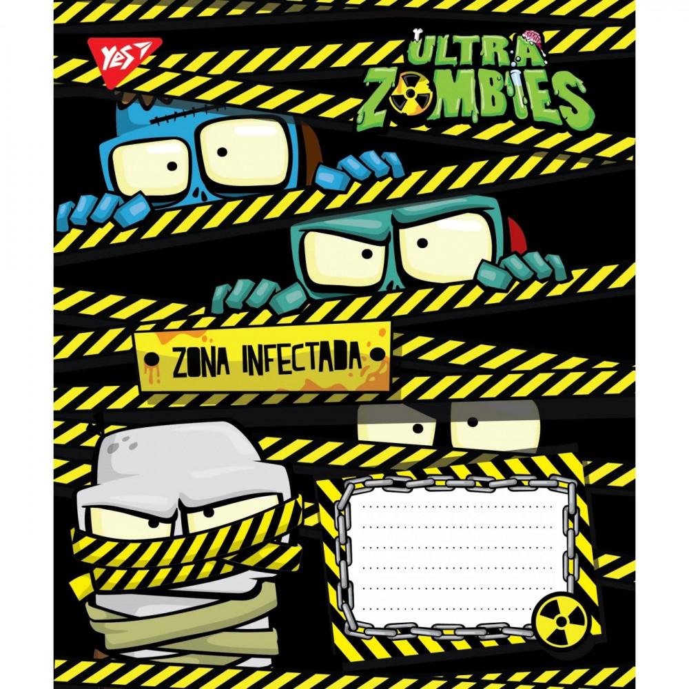Тетрадь 12 листов линия YES Ultra Зомби (25) (250) №763922