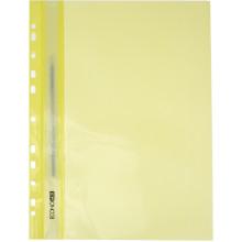 Папка-швидкозшивач Economix A4, з прозорим верхом, з перфорацією, глянцева, жовта (10) (300) E31510-85