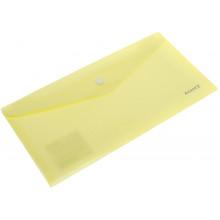 Папка-конверт Axent Pastelini на кнопке DL желтая (12) №1414-08