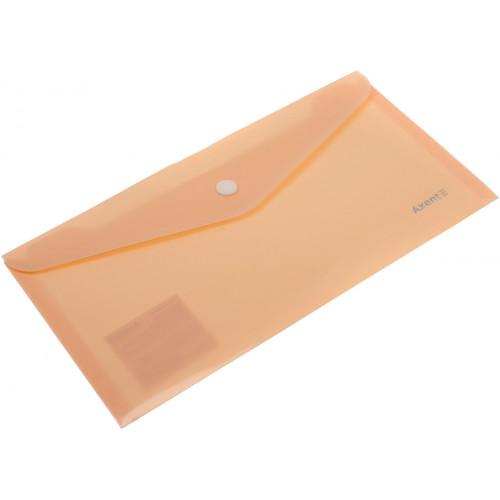 Папка-конверт Axent Pastelini на кнопці DL персикова (12) 1414-42