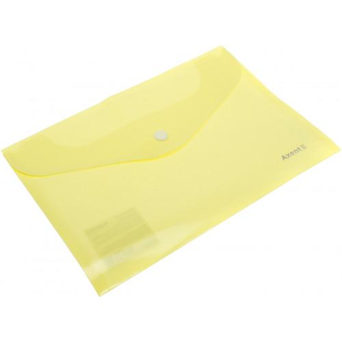 Папка-конверт Axent A5 Pastelini на кнопці, жовта (12) 1522-08-А