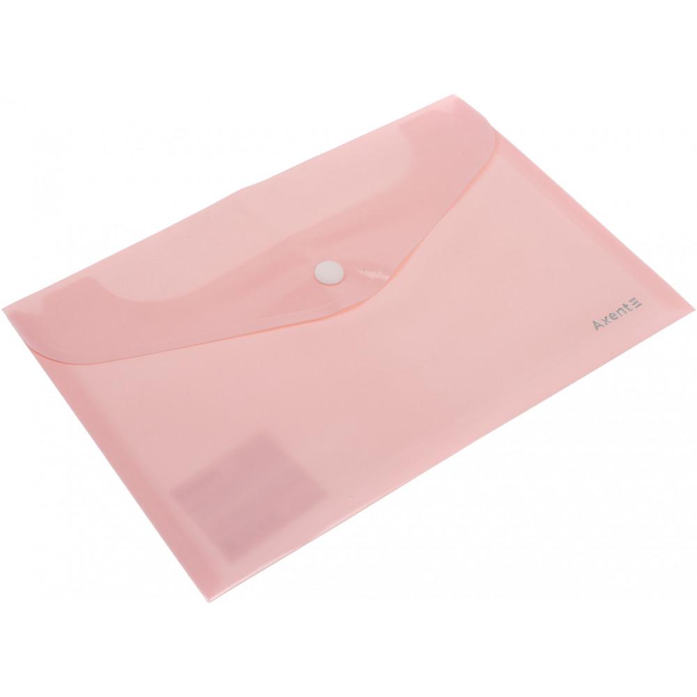 Папка-конверт Axent A5 Pastelini на кнопке, розовая (12) №1522-10-А