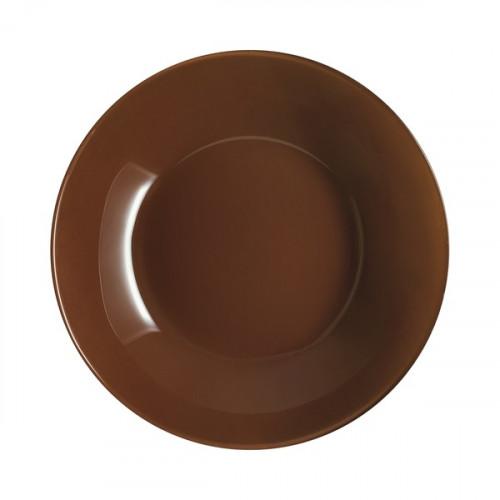 Тарілка супова скло Luminarc. Arty Cacao 20 см (12) (72) №69012/P6152