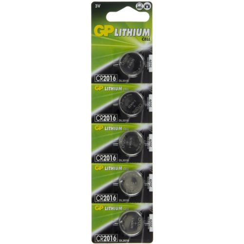 Батарейка GP Lithium Button Cell CR2016-8U5 3V/5bl (5) (100)