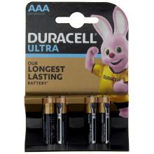 Батарейки Duracell индикатор заряда батареи Ultra Power LR-03/блистер 4 штуки (10)