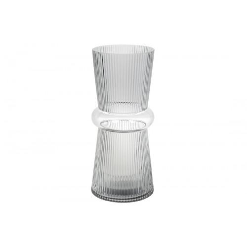 Ваза скляна Гамма Bonadi h-31 см світло-сіра (6) №420-103