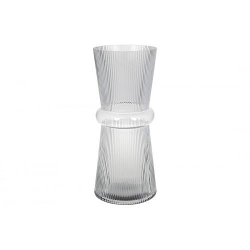 Ваза скляна Гамма Bonadi h-39 см світло-сіра (4) №420-102