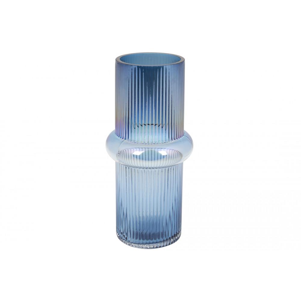 Ваза стекло Этери h-28 см бриллиантовый синий (9) №420-110 Bonadi