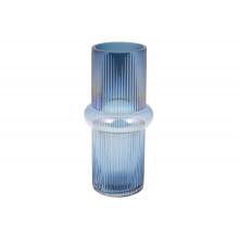 Ваза скляна Етері Bonadi h-28 см діамантовий синій (9) №420-110