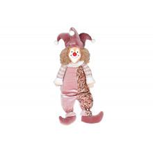Игрушка мягкая декоративная Сидящий Клоун 48 см, розово-лиловый (1) (12) №877-014 Bonadi