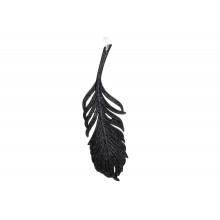 Прикраса Перо 21,5 см чорна (1) (45) №788-831 Bonadi