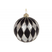 Шар стекло 10 см, с золотым орнаментом (9) (36) №854-330 Bonadi