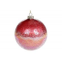 Шар стекло 10 см, с ледяным покрытием, бриллиантовый пурпурный (4) №NY15-940 Bonadi