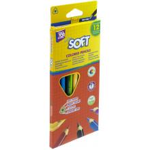 Олівці кольорові 12 кольорів Cool For School Extra soft трикутні (12) CF15143