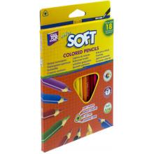 Карандаши цветные 18 цветов Cool For School Extra soft треугольные (8) №CF15144