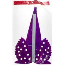 Зірка фольгована різдвяна гігант з дірками (М) (1) (12)