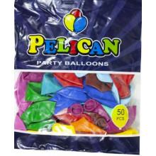 Кулька повітряна 10/26см пастель асорті (50) 1050-888 Pelican