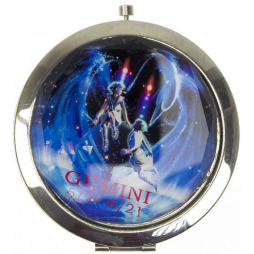 Зеркало круглое Знак зодиака складное с увеличителем в коробке 70х7 мм (1) (200) №GP-12