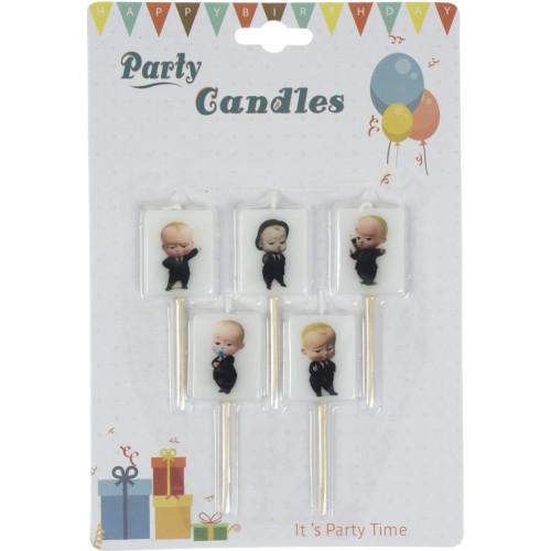 Свічка в торт Baby Boss (5 шт) (24) №1253