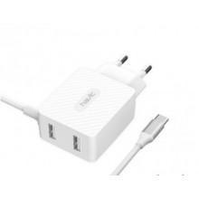 Зарядний пристрій Havit 2 USB, Lighting white HV-H143