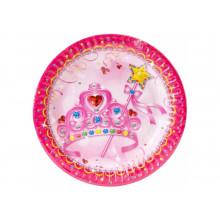 Набор тарелок бумажных Princess 6 шт 17,78 см (24) (144) №MX443127