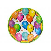 Набір тарілок паперових Balloons 6 шт 17,78 см (24) №MX44355