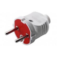 Вилка без заземления, Mono Electric белая (60) №170-010002-701