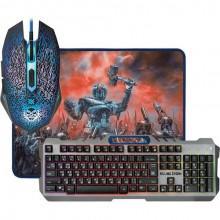 Набор игровой Defender KillingStorm MKP-013L клавиатура, мышка, коврик