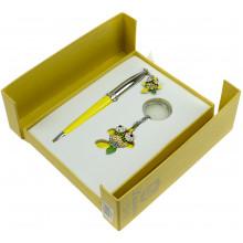 Набор подарочный Langres Goldfish ручка шариковая и брелок, желтый №122025-08