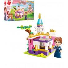 Конструктор Qman Замок принцеси, 118 деталей, в коробці, 22 х14,5 х4 (64) 2613-3