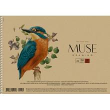 Альбом для рисования на пружине 30 листов A4 Muse Школярик крафт-картон (36) №PB-SC-030-310