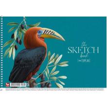 Альбом для малювання на пружині 30/120 A4 картон Школярик (9) (63) №PB-SC-030-295