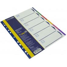 Розділювач сторінок Economix пластиковий A4 6 кольорових розділів E30806